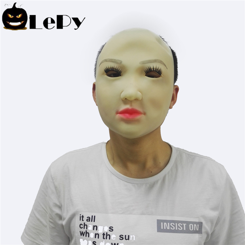 Realistic Female Latex Mask Masquerade Party Women Face Mask Living Doll Crossdresser Halloween Costume Cosplay Mask Props-in Party Masks from Home u0026 Garden ...  sc 1 st  AliExpress.com & Realistic Female Latex Mask Masquerade Party Women Face Mask Living ...