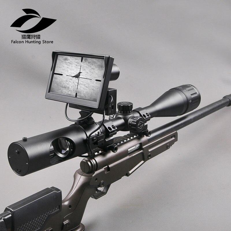 Тактический Цифровой инфракрасного ночного область 200 м Новый третьего поколения Ночное видение прицел охота день и ночь прицел