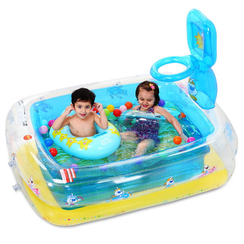 Fashion High Quality Inflatable Baby Swimming Pool Water Baby Pool Children's Game Pool Basketball Ocean Balls Playing Pool C01 environmentally friendly pvc inflatable shell water floating row of a variety of swimming pearl shell swimming ring