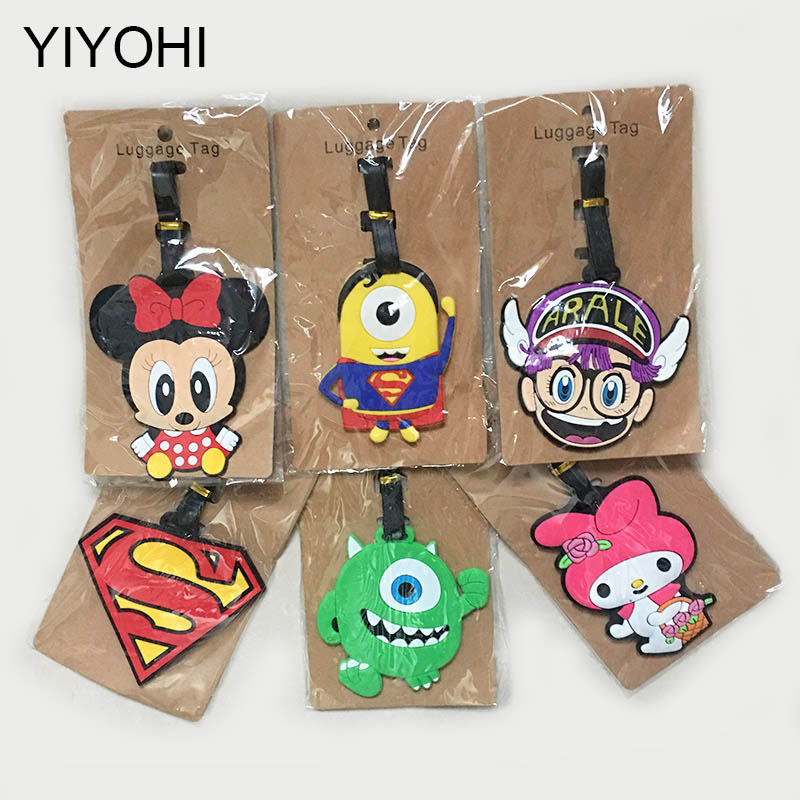 Cartoon Animal Creative Luggage Travel AccessoriesTag Silica Gel Suitcase ID Addres Holder Baggage Boarding Tags Portable Label