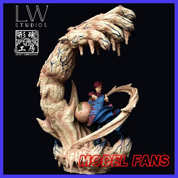 Модели фанатов в наличии LW Наруто 40 см Gaara gk статуя из смолы фигурка для коллекции