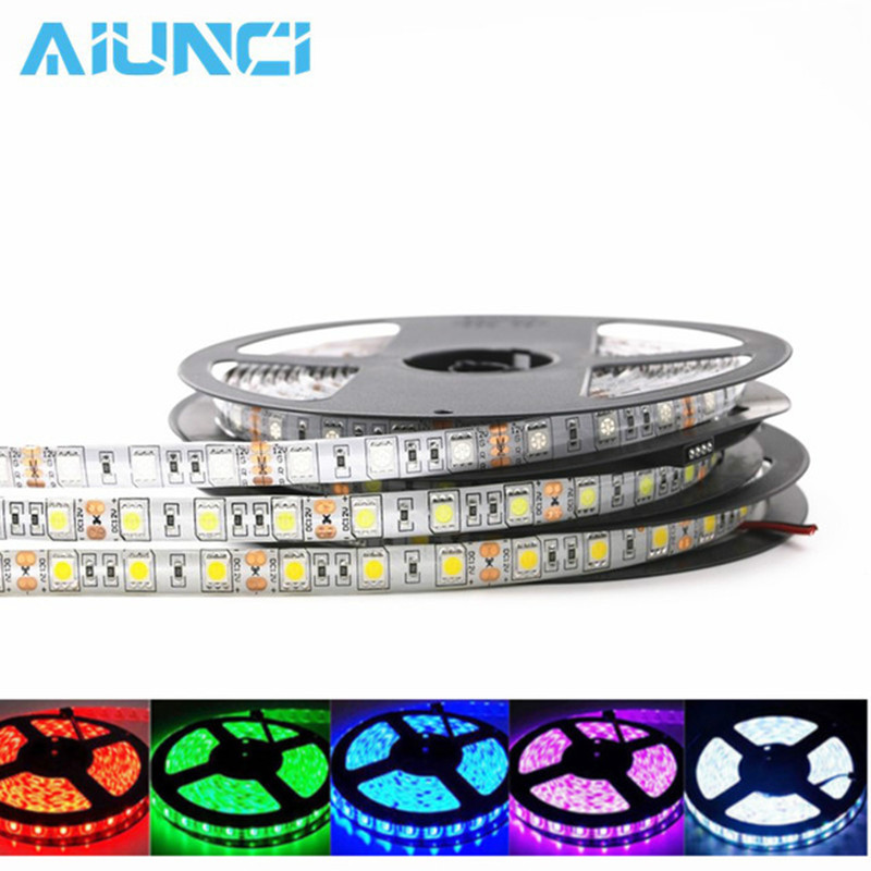 Bright 5050 Tape Light: Super Bright 5M 5050 LED Strip Light Tape DC 12V RGB RGBW
