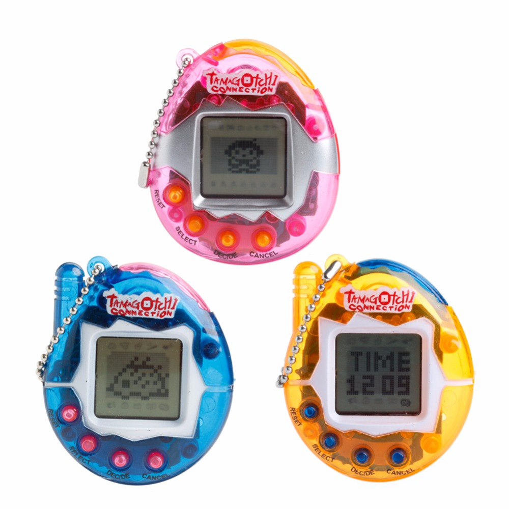 1Pc 90S Nostalgic 49Pets Virtual Cyber Pet Game Child Toy Key Tamagotchi Buckles