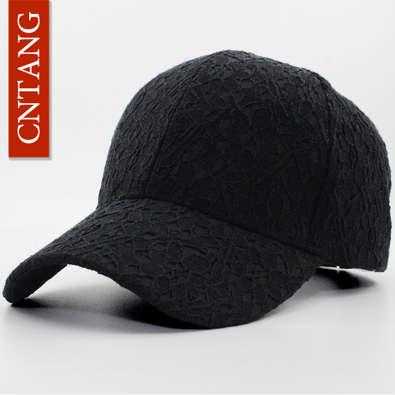 CNTANG Brand Summer Lace Hat Cotton Baseball Cap For Women Breathable Mesh Girls Snapback Hip Hop Fashion Female Caps Adjustable 1