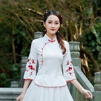 2019 tops hanfu top chinese hanfu costume traditional chinese clothing for women tang suit chinese top traditional women
