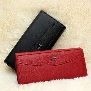 Image 2 - Qianxilu ブランド本革財布、高品質コイン財布女性 2017