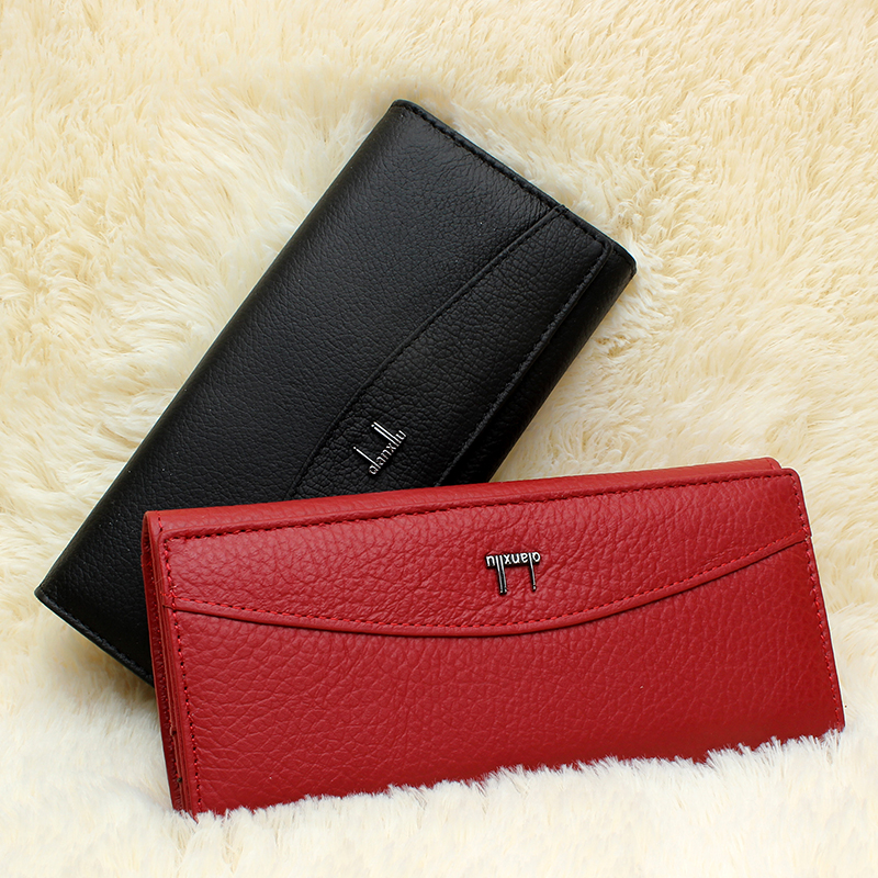 Image 2 - Qianxilu Brand Genuine Leather Wallet for Women,High Quality Coin Purse Female 2017leather wallet for womenbrand leather walletleather wallet -