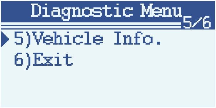Diagnostic Menu
