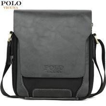 VICUNA POLO Brand Soft Leather Man Daily Messenger Bag With Wallet Set Vintage Large Capacity Male Crossbody Bags sac a main