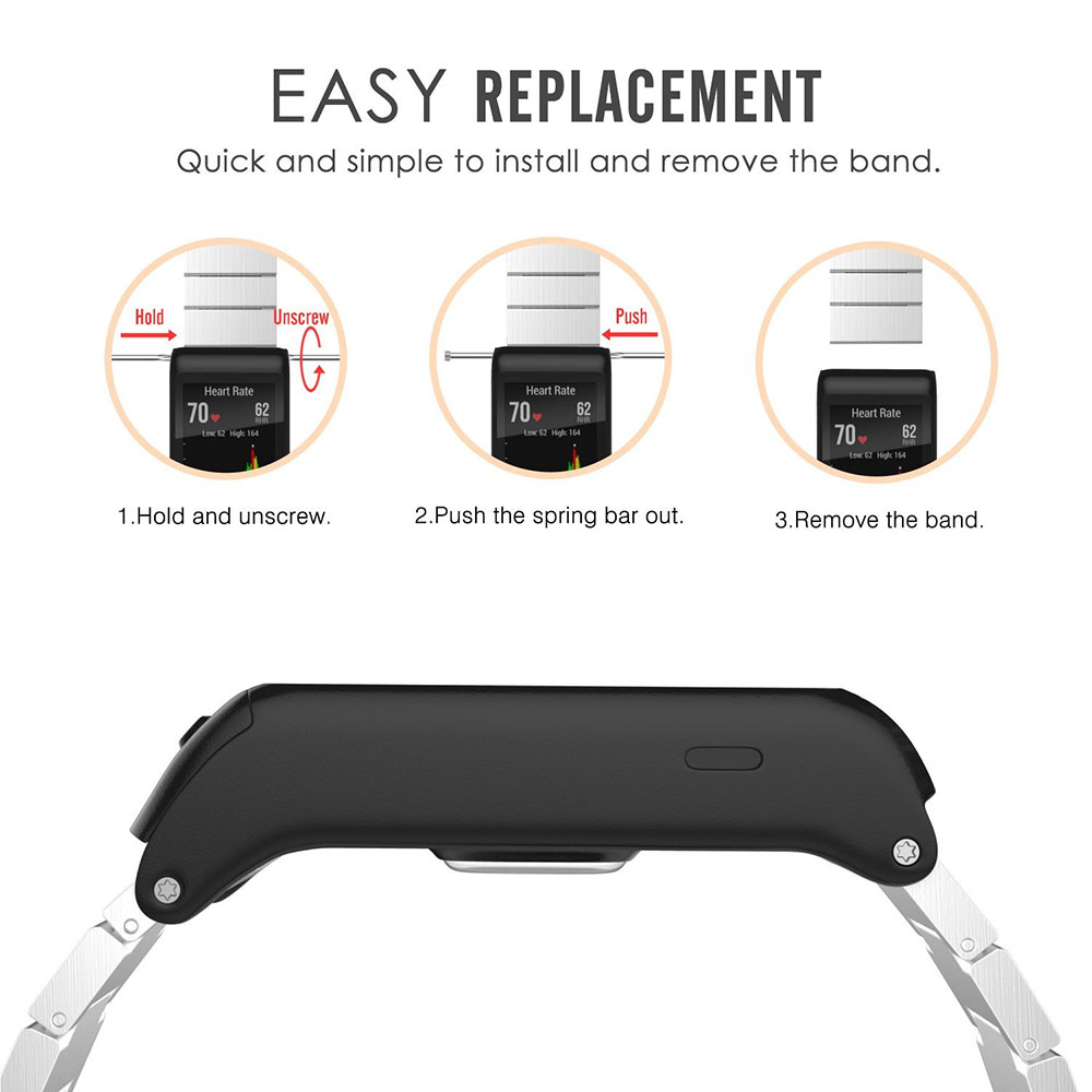 Metal Wristband Classic Buckle Fashion Stailess Steel Bracelet Strap Watch Band for Garmin vivoactive HR Smart Watch Accessory