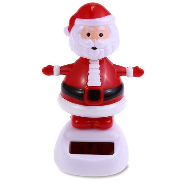 Christmas Themed Solar Powered Dancing Santa Claus Swinging Bobble Novelty Toys Car Decor Dancing Solar Toy Kids Christmas Gift 5