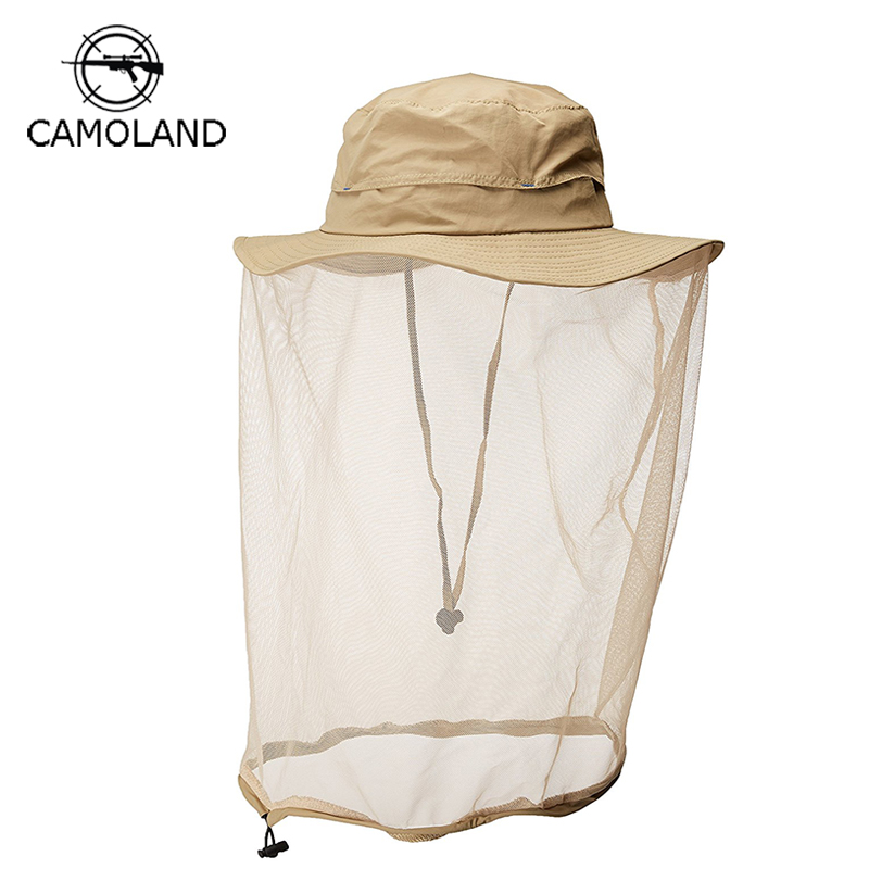 Upf50 Men's Hats Summer Sun Hat Breathable Mesh Bucket Hat Men Women Fishing Cap Protection Insect Bug Bee Anti-mosquito Gnats Outdoors Agreeable Sweetness Apparel Accessories