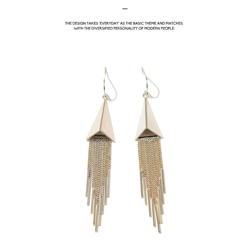 Sophisticated Earrings Web Celebrity Korean Tassel Long