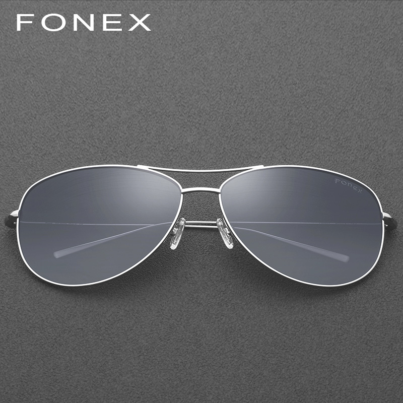 B Pure Titanium Polarized Sunglasses Men Aviation Sun Glasses for Men Brand Designer Male Fashion Aviador