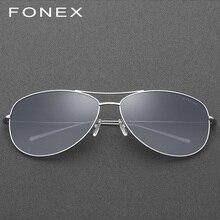 e8968e690 B Titânio Puro Óculos Polarizados Homens Aviação Óculos De Sol para Homens Marca  Designer Moda Masculina Aviador Espelhado Óculo.