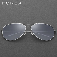 B Pure Titanium Polarized Sunglasses Men Aviation Sun Glasses for Men Brand Designer Male Fashion Aviador Mirrored Sunglass 3001