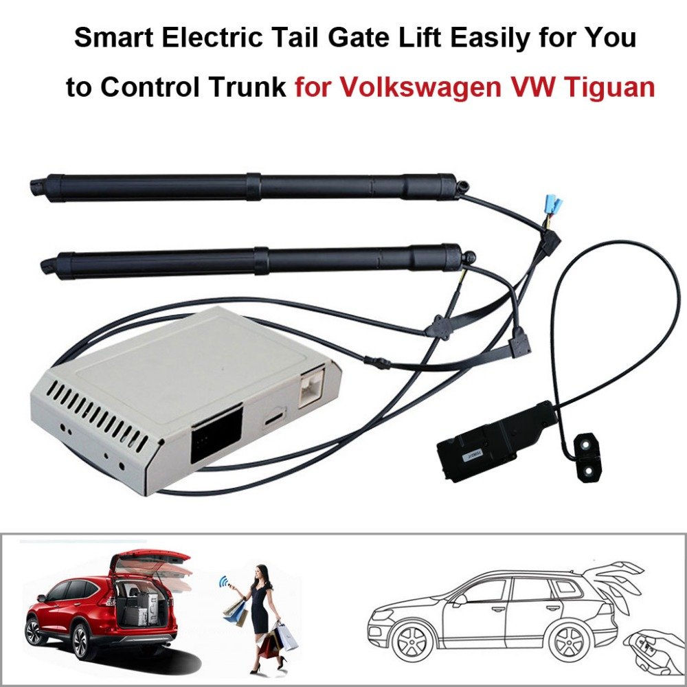 Smart Auto Electric Tail Gate Lift For Volkswagen VW Tiguan Remote Control Set Height Avoid Pinch With Latch