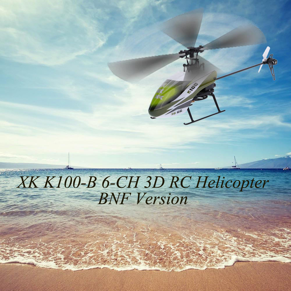 Falcon K100-B 6CH 3D 6G System BNF RC Helicopter Remote Control Aircraft Plane Electronic Flying Toys Clearance Sales (11)
