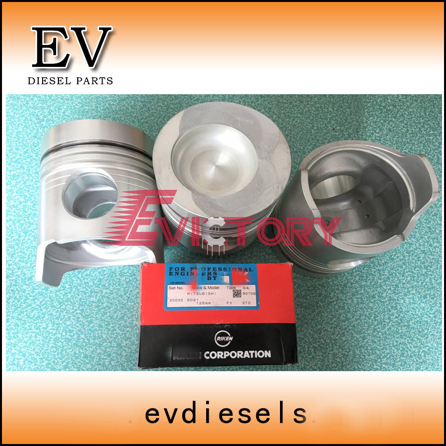 For Mitsubishi Fuso truck engine 6D20 piston and piston ring set