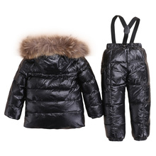 2018 New Baby Boys Hoodie Winter Down Jacket Children White Duck Down Thick Snowsuit Russia Winter Warm Clothes Girls Outwear