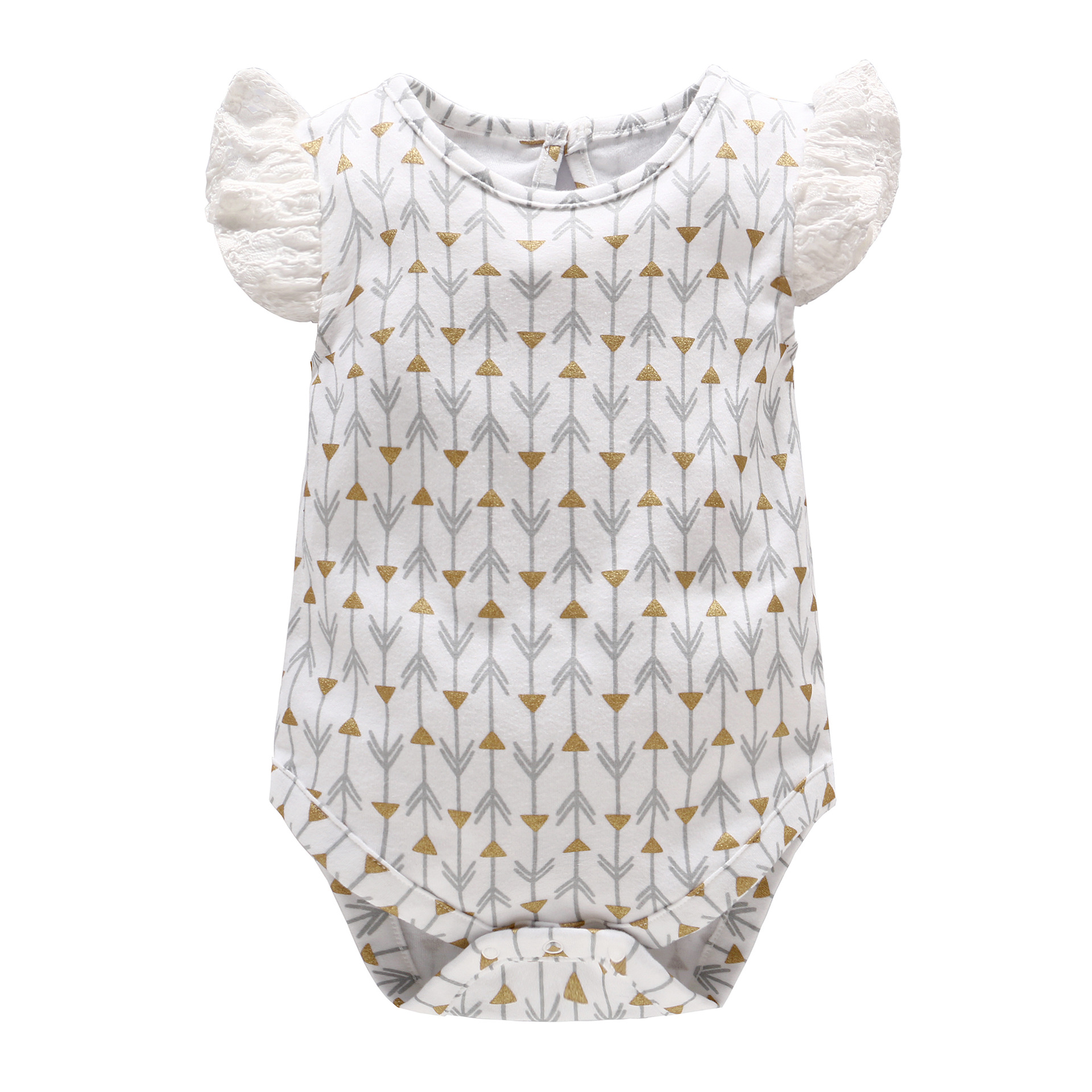 fe295f9da 2018 Baby Girl Clothes New Cotton Summer Baby Girls Sleeveless Lace Bodysuits  Baby Gold Stamping Outfits