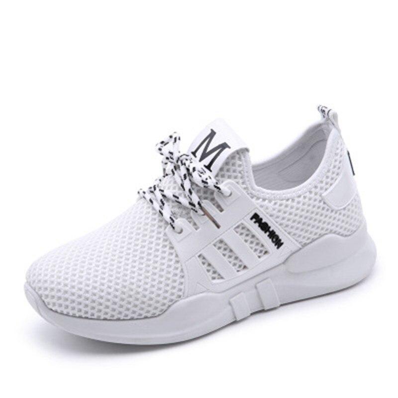 2018 Открытый Запуск Прогулки Спортивная обувь дышащая брендовая Удобная Нескользящая кроссовки спортивная обувь на шнуровке Дамская обувь