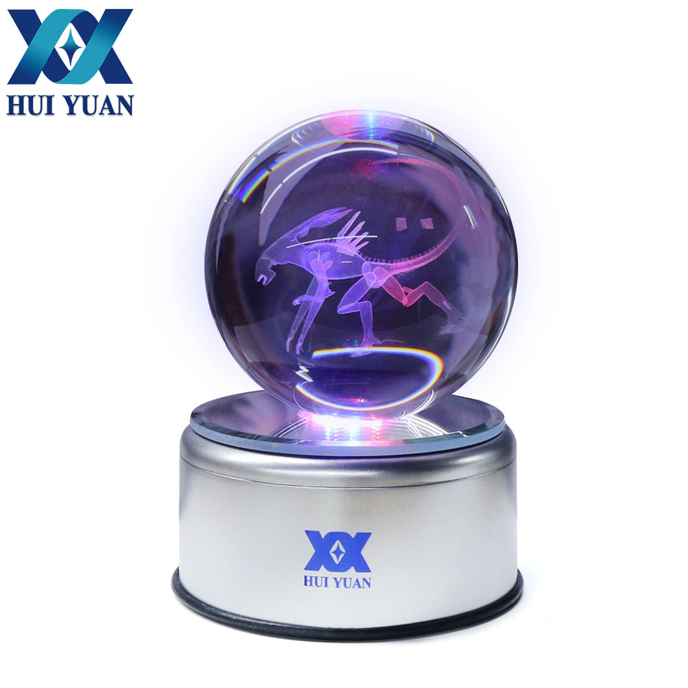 Alien 8CM Crystal ball 3D New exotic lamp LED Night Light Magic Ball for Children Gifts Decorative table lamp By HUI YAN Brand charizard 8cm 3d laser go crystal ball mew led night light magic ball for children christmas gifts by hui yuan