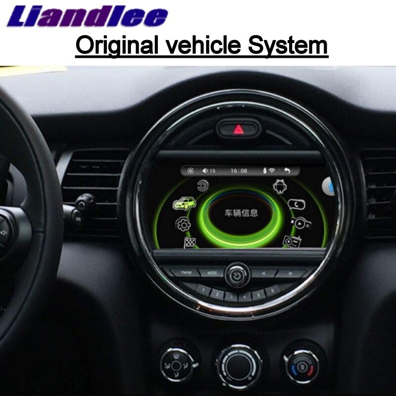Liandlee для Mini One Cooper S Hatch F55 F56 2014 ~ 2018 автомобильный мультимедийный плеер NAVI iDrive CarPlay адаптер радио gps навигация
