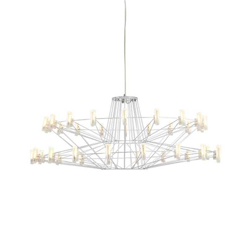 Large LED Modern Chandelier with Metal Frame -in Chandeliers from ...