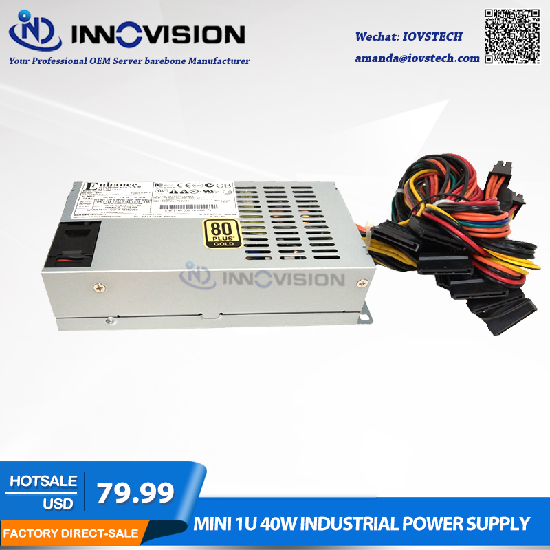 High efficiency 1U flex psu Rated 400Watts industrial Power Supply ENP7140B2 ,80Plus цена