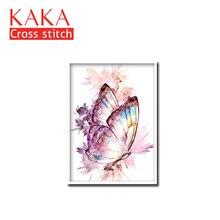 Kits de punto de cruz, juegos de costura bordados con patrón impreso, 11CT canvas para pintura de decoración del hogar, DMC Animals CKA0064