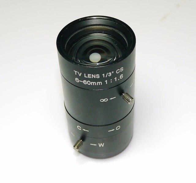 6 60mm Objektiv MegaPixel 68 8 Grad MTV CS Mount Infrarot Nachtsicht Manuelle Zoom Objektiv Für CCTV Sicherheit Kamera