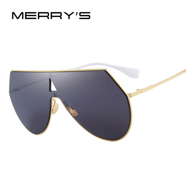 33ac97dab68b8 MERRY S Brand Designer Men Women Integrated Sunglasses Big Frame S 8076