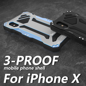 Image 5 - For Apple iphone 11 Pro max X XR XS MAX 7 8 6 6s Plus 5S SE Case Gundam Armor Metal Tempered Glass Protect Phone Case