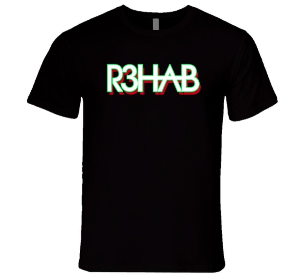 R3hab Electronic, House, Rave, Work Hard Play Hard T Shirt New 2018 Hot Summer Casual T-Shirt Printing High Quality Top Tee
