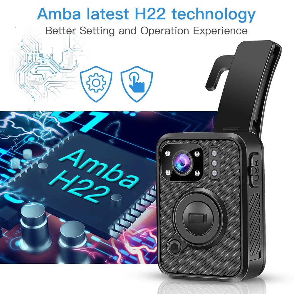 BOBLOV Wifi полицейская камера F1 32GB Body Kamera 1440P изношенная камера s для обеспечения безопасности 10H запись gps видеорегистратор с режимом ночной съемки рекордер - 5