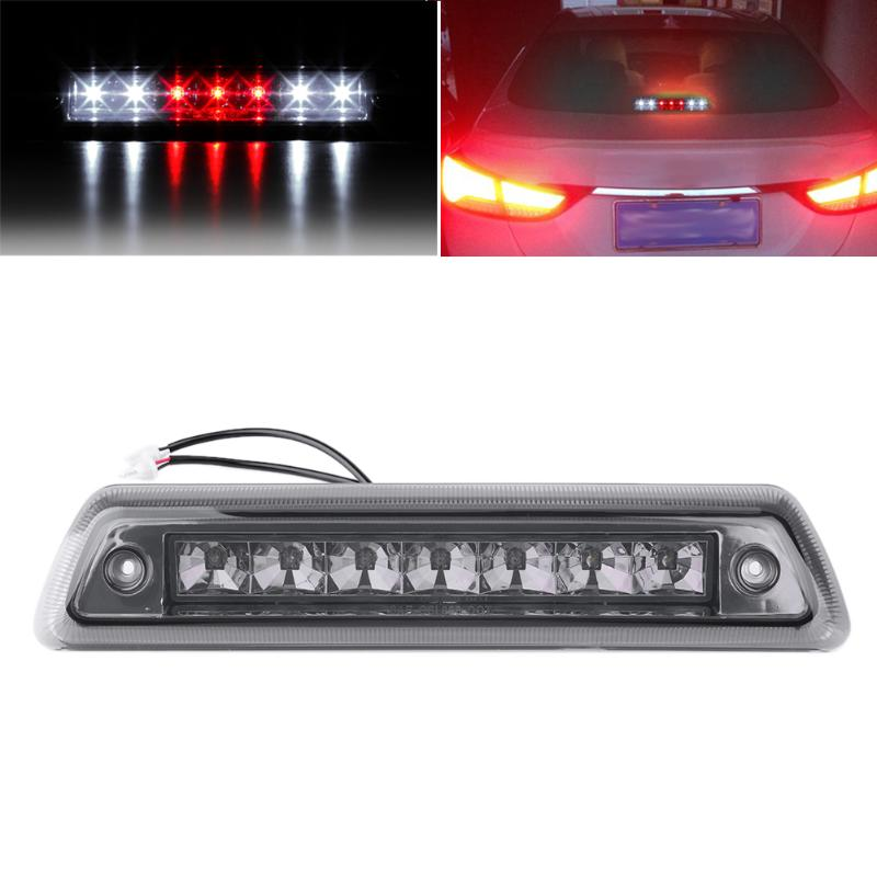 Flexible 7LED 3rd Stop Brake Lamp High Low Power Motorcycle Brake Light Strip Stop Light for 2009-2014 Ford F150 White and Red