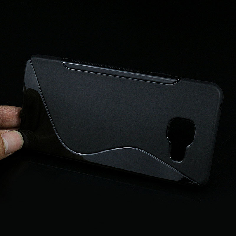 Silicone Case For Samsung Galaxy A3 2016 A310 A310F Back Cover S lines Soft Protect Rubber Matte TPU Phone Bags For Samsung A3