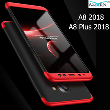 3-in-1 Plastic Hard 360 Full Protect Case For Samsung Galaxy A8 2018 / A8 Plus 2018 Cover Anti-Shock PC Case for Samsung A8 2018 цены