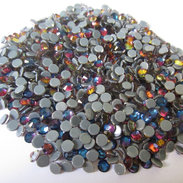 Transfer Stones Strass 1440p SS6-SS30 Hotfix Rhinestones Crystal Blue  Rainbow Color With Round Flatback For Clothes Bags Shoes fc495931143a