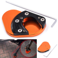 Newest Aluminum Motorcycle Parking Side Kickstand Stand Extension Base Plate Parts for KTM