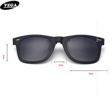 VEGA Polarized Clip On Sunglasses Over Prescription Glasses With Box Fit Over Glasses Sunglasses Flip Up Clips  5840