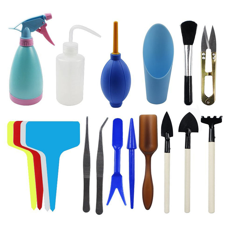 Bakhuk 3 different sets succulent potting tools t shaped for Different tools and equipment in horticulture