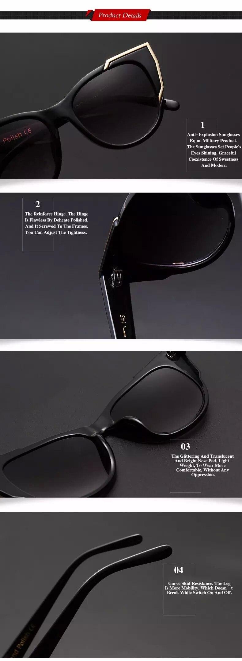 ddf6358fd DIDI Policarbonato óculos de Sol Do Olho de Gato Mulheres Americanas ...