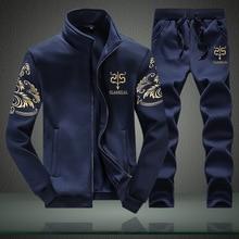 FGKKS Brand New Men Set Fashion Autumn Spring Sporting Suit Sweatshirt +Sweatpants 2 Pieces Mens Clothing Slim Male Tracksuit