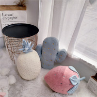 Soft Warm Cushion Nordic style Lovely strawberry pineapple cactus decotative Sofa and bed decoration hold pillow cushion