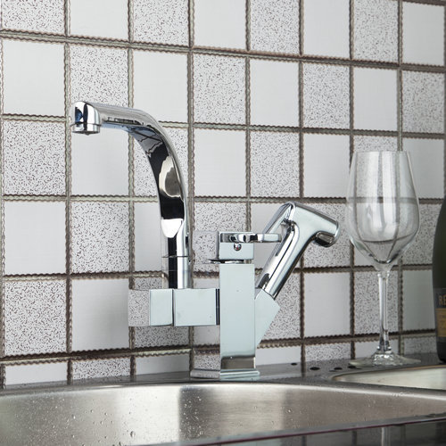 Kitchen Deck Mount Pull Out UP Down Swivel Chrome Brass 92347SP038 Water Lavabo Basin Sink Torneira