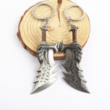New God of War 4 Kratos sword Keychain Pendant keyring jewelry men and women car key chain Accessories