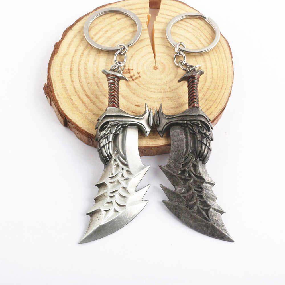 Novo deus da guerra 4 kratos espada chaveiro pingente chaveiro jóias masculino e feminino carro chaveiro acessórios