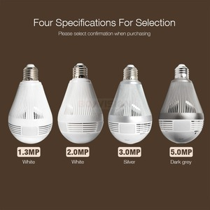 Image 2 - 960P 1080P 3MP 5MP Wireless Panoramic IP 3D VR Camera WIFI Bulb Light FishEye 180 / 360 Degree CCTV Home Security Mini Cam Wi Fi